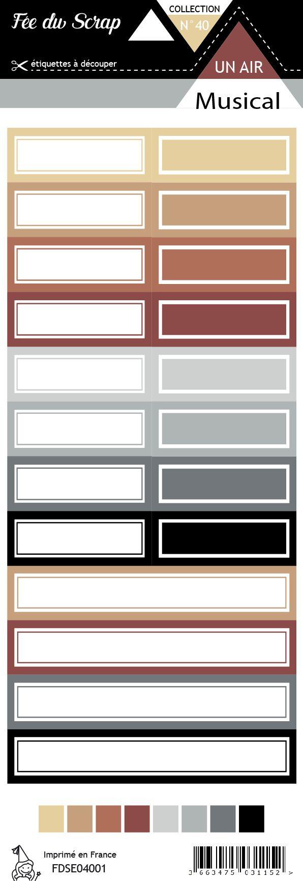 Etiquette un air musical - Etiquettes rectangles