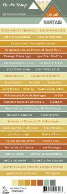 Etiquette un air nantais - bandes de mots Nantes