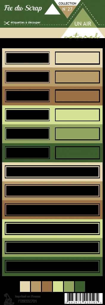 Etiquette un air naturel - étiquettes rectangles