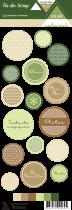Etiquette un air naturel - ronds motifs et écriture