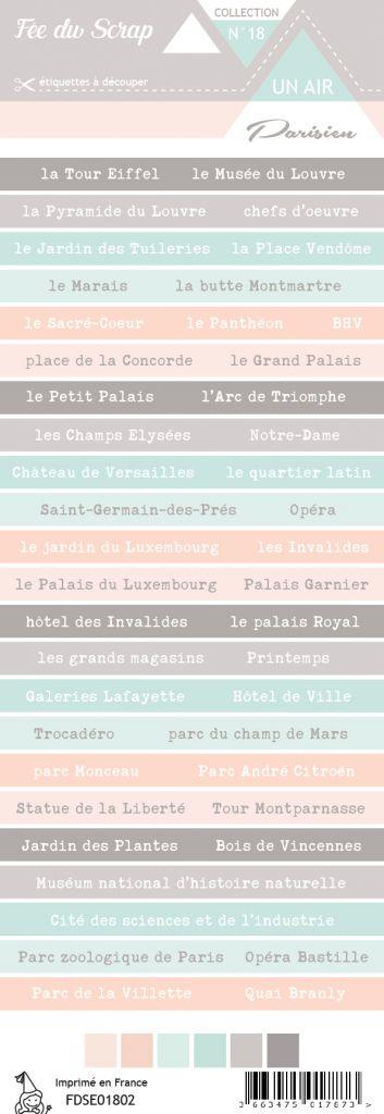 étiquette un air parisien bandes de mots 1