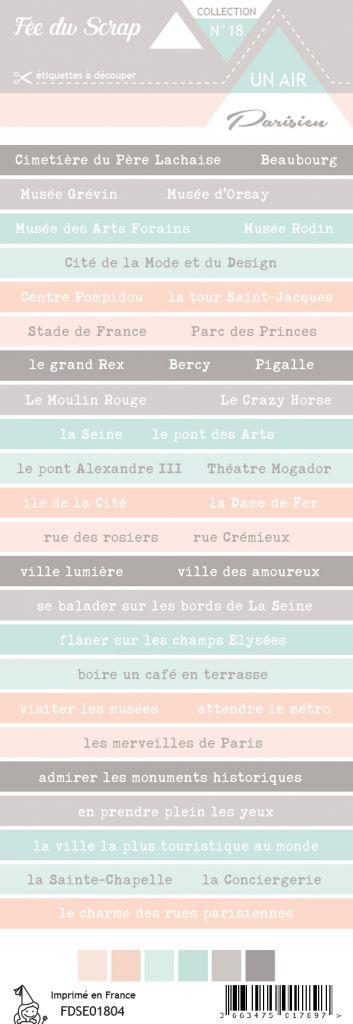 étiquette un air parisien bandes de mots 2