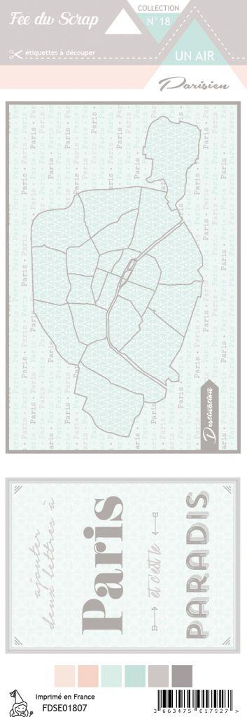 étiquette un air parisien cartes project life 1