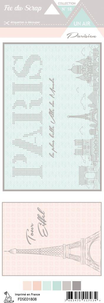 étiquette un air parisien cartes project life 2