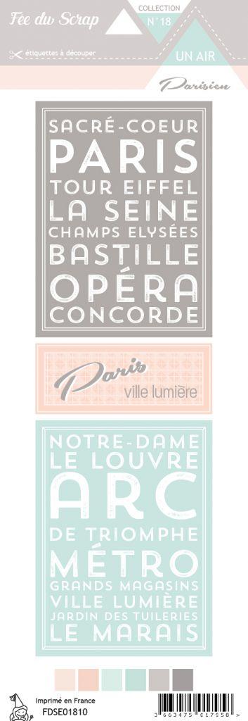 étiquette un air parisien cartes project life 3
