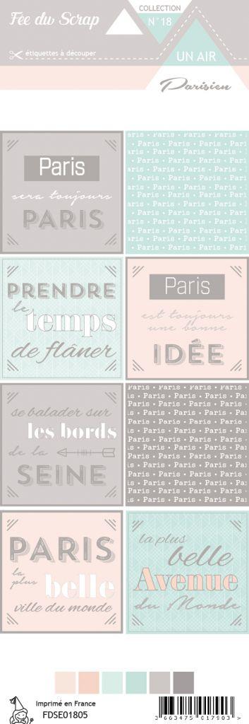 étiquette un air parisien cartes project lifes carrés citations