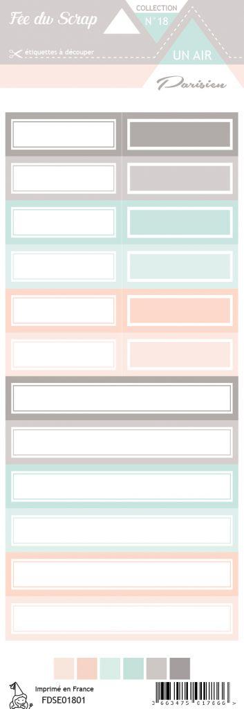 étiquette un air parisien étiquettes rectangles