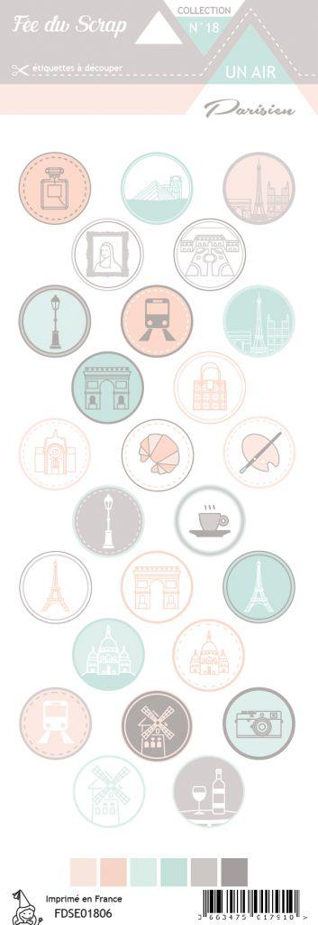 étiquette un air parisien ronds motifs