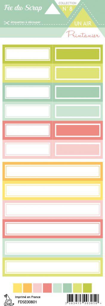 étiquette Un air printanier étiquettes rectangles