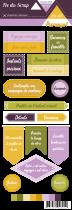 Etiquette un air provencal - étiquettes avec écriture