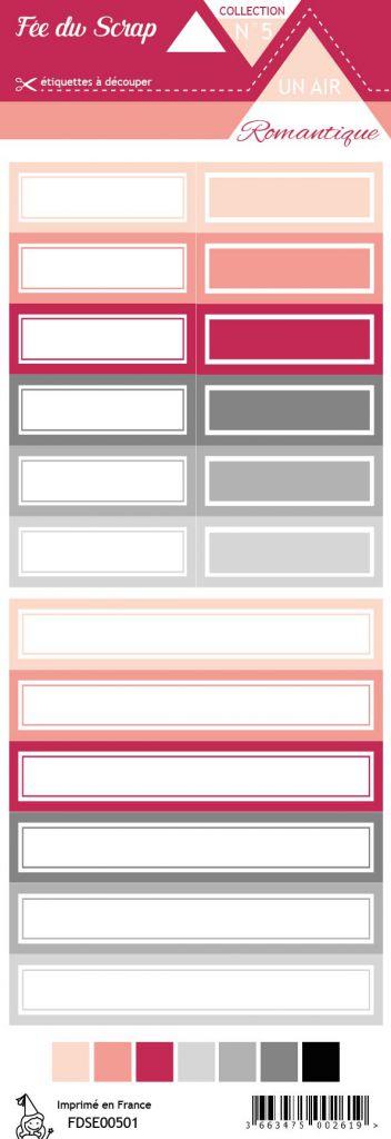 étiquette un air romantique étiquettes rectangles