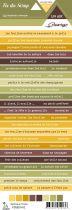 étiquette un air sauvage - automne bandes de mots