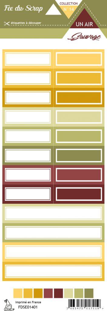 étiquette un air sauvage étiquettes rectangles