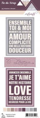 Etiquette un air sentimental - Cartes project life