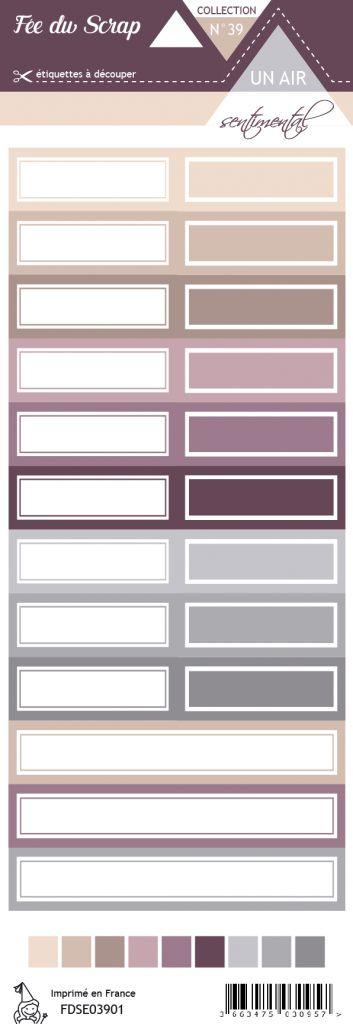 Etiquette un air sentimental - Etiquettes rectangles