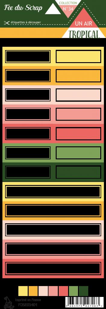Etiquette un air tropical - étiquettes rectangles
