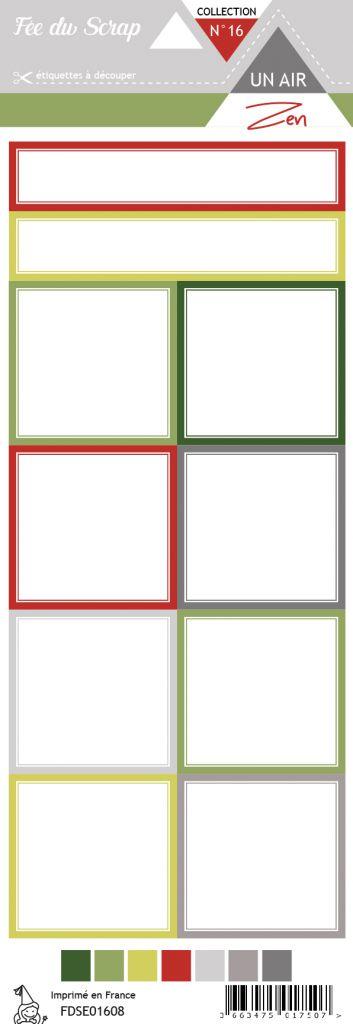étiquette un air zen étiquettes carrés