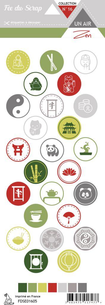 étiquette un air zen ronds motifs