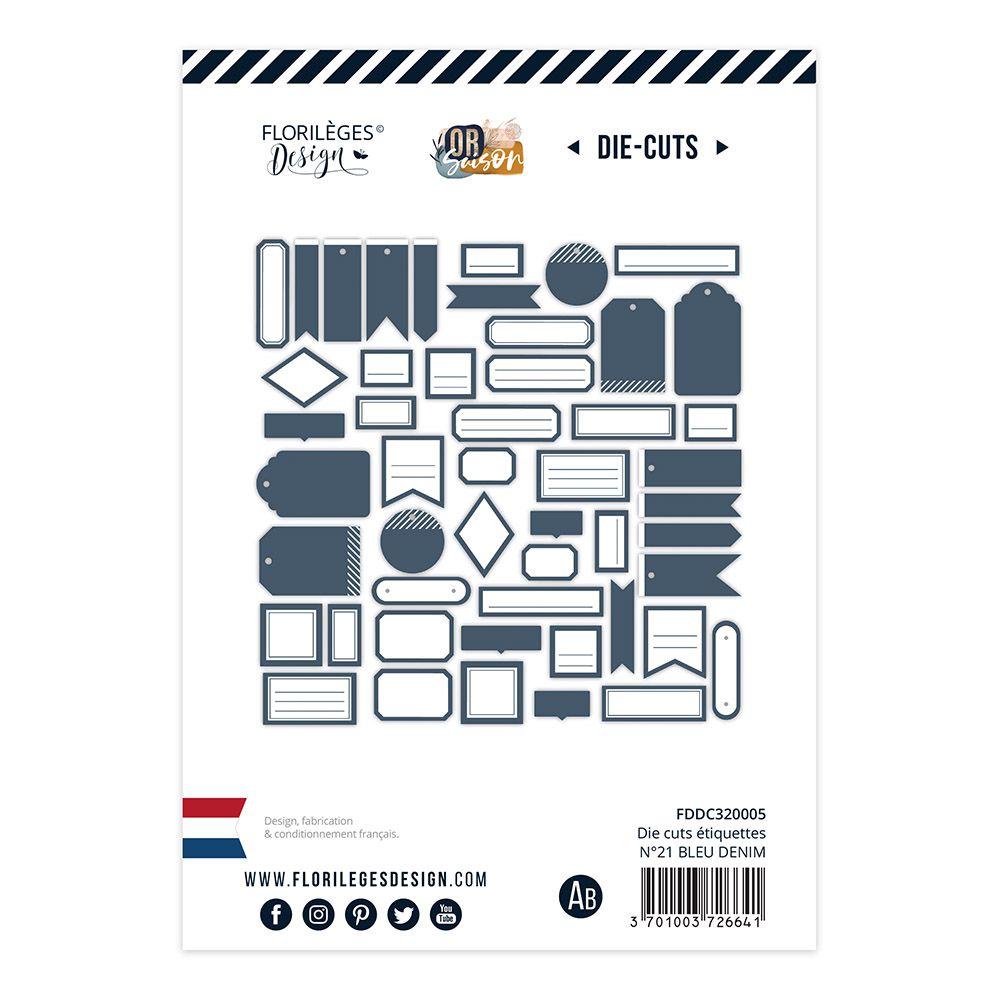 Etiquettes N°19 BLEU DENIM