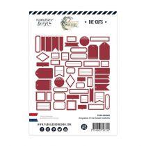 Étiquettes N°24 ROUGE CARMIN