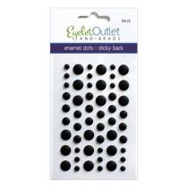 Eyelet Outlet Adhesive-Back Enamel Dots Matte black