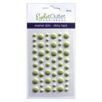 Eyelet Outlet Adhesive-Back Enamel Dots Matte green
