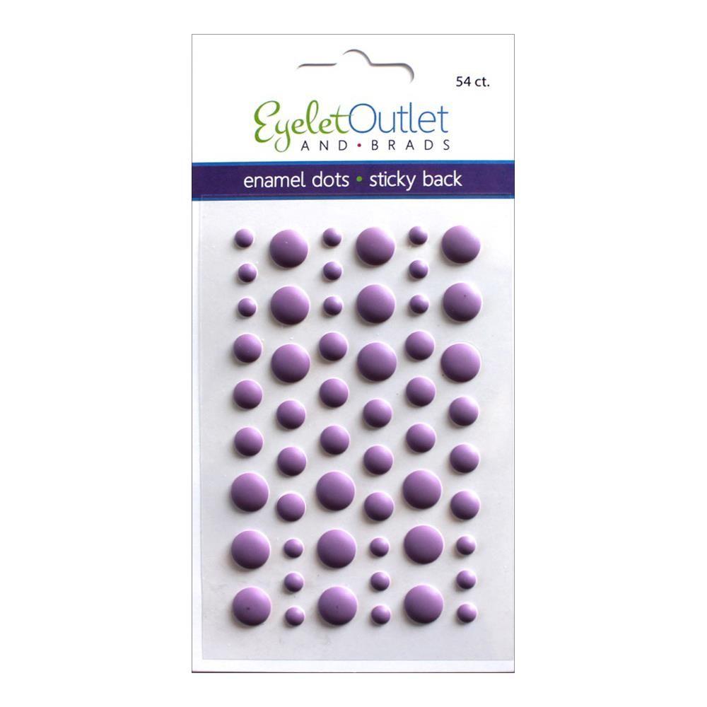 Eyelet Outlet Adhesive-Back Enamel Dots Matte purple