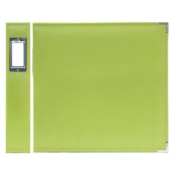 FAUX LEATHER 3 RING BINDER KIWI 12X12