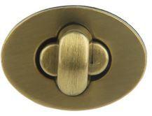 FERMETURE OVALE 2.3 X 1.6 CM - Bronze