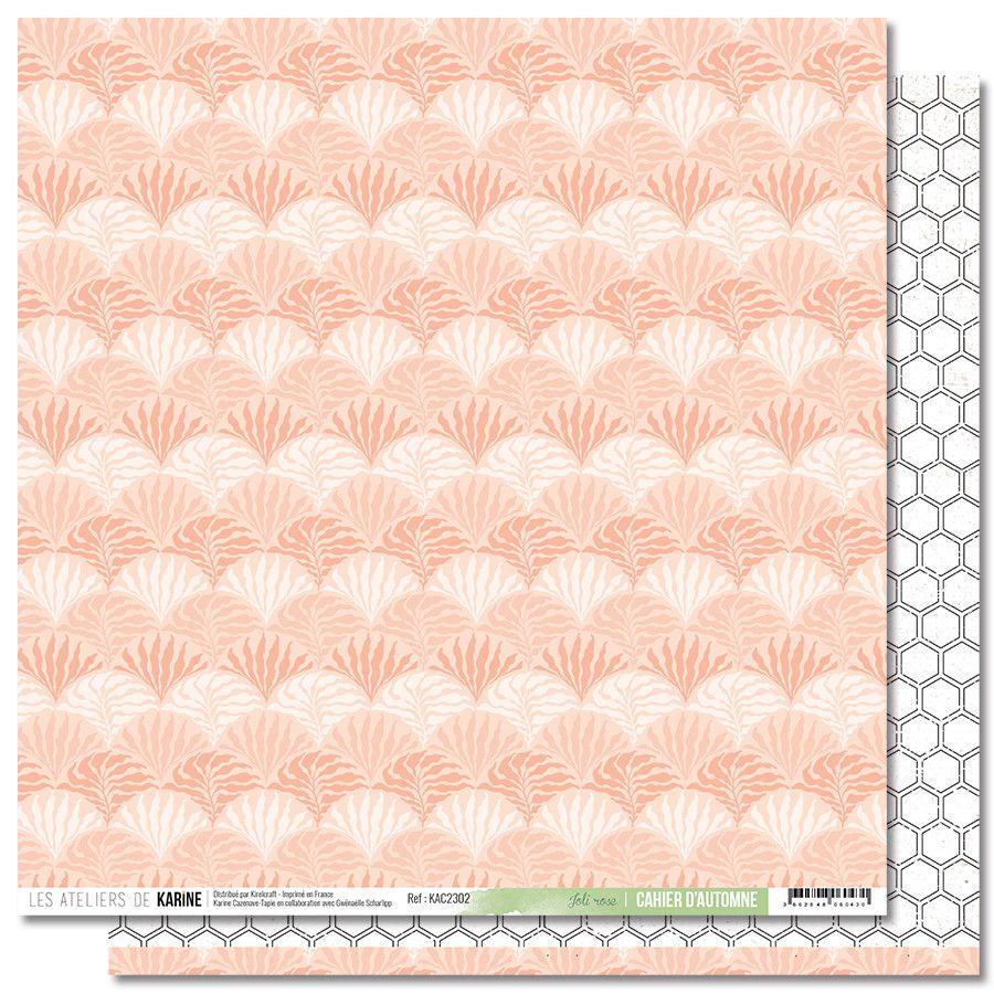 Feuille Joli rose - Collection Cahier d\'Automne - Les Ateliers de Karine
