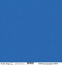 feuille les essentiels bleu jean pois