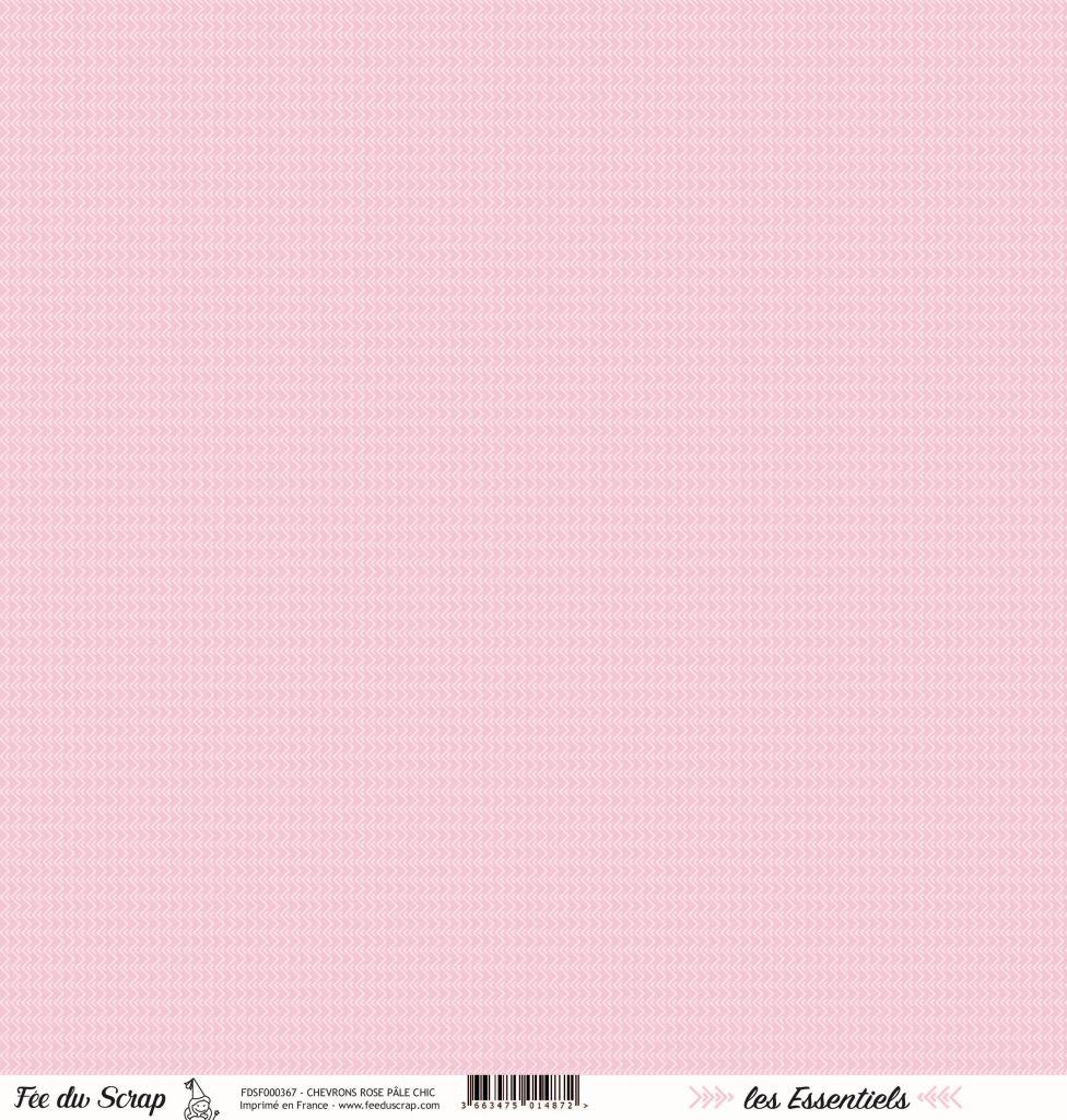 feuille les essentiels chevrons rose pâle chic