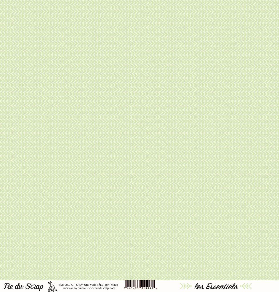 feuille les essentiels chevrons vert pâle printanier