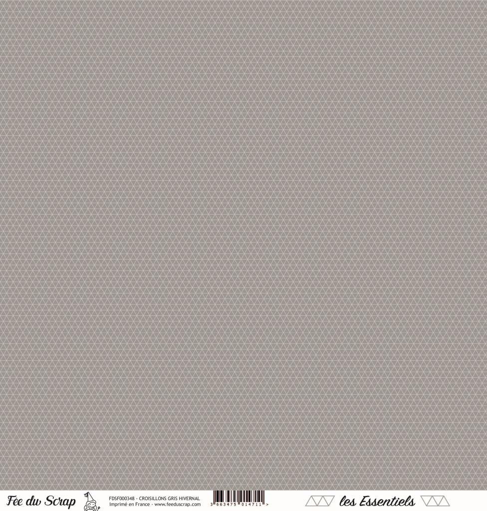 feuille les essentiels croisillons gris hivernal
