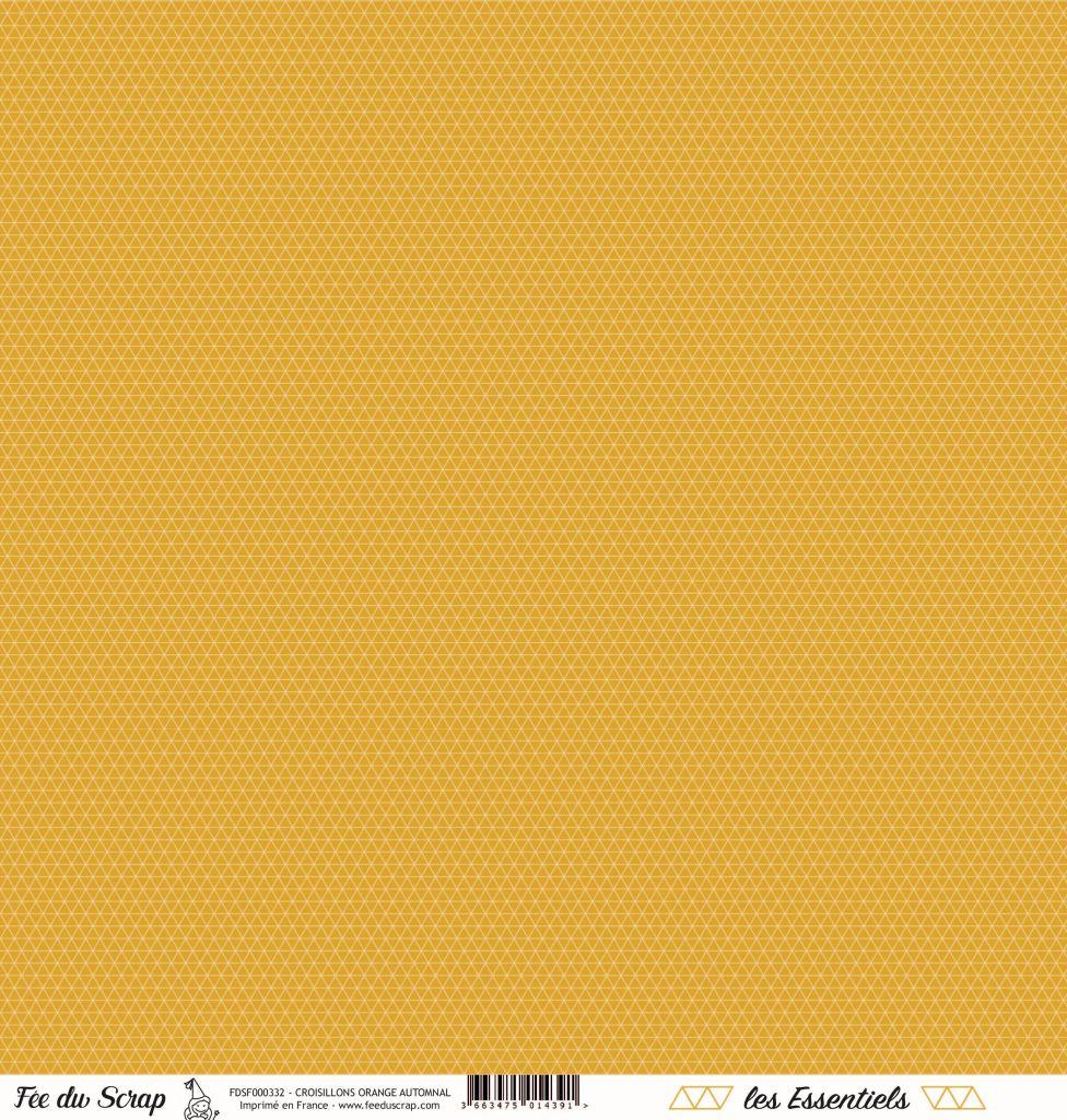 feuille les essentiels croisillons orange automnal