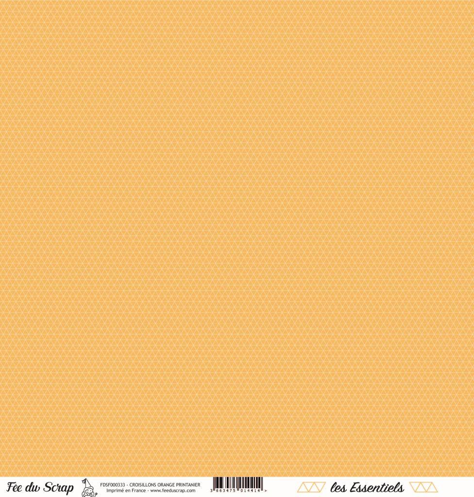 feuille les essentiels croisillons orange printanier