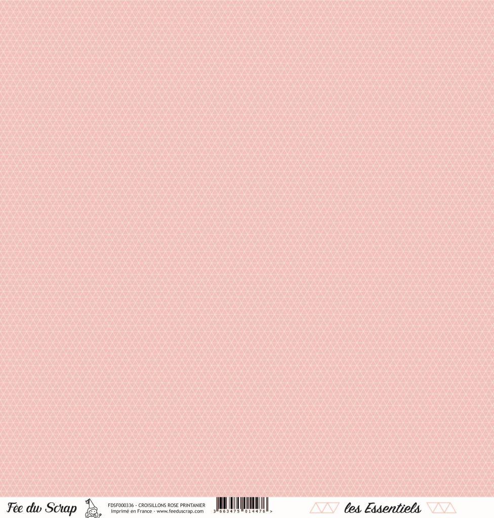 feuille les essentiels croisillons rose printanier