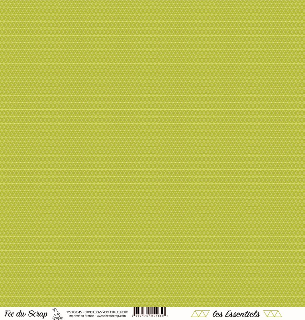 feuille les essentiels croisillons vert chaleureux