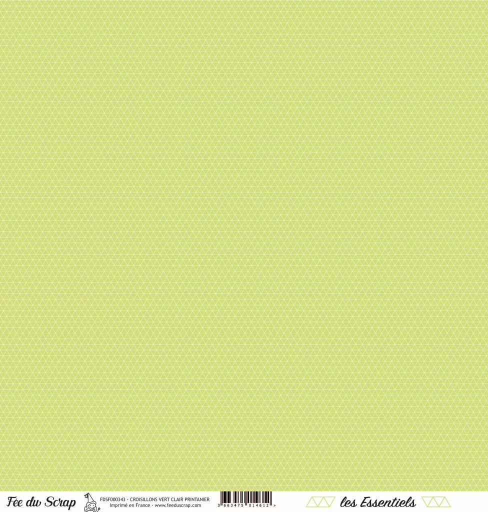 feuille les essentiels croisillons vert clair printanier