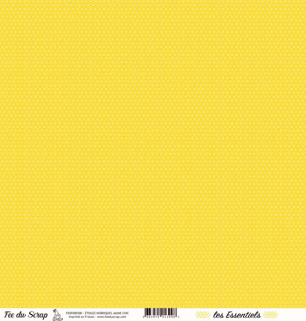 feuille les essentiels étoiles nordiques jaune chic