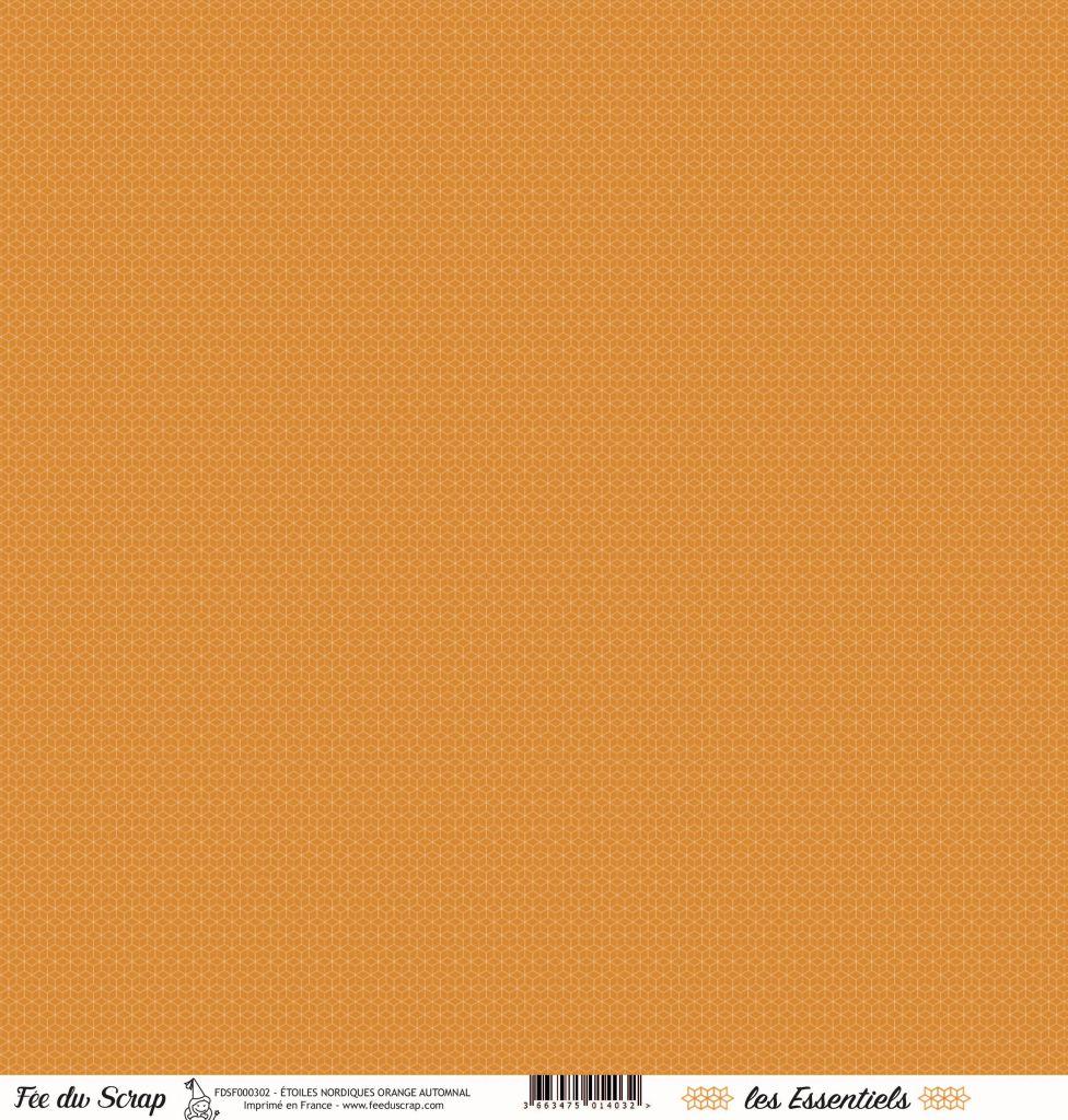 feuille les essentiels étoiles nordiques orange automnal