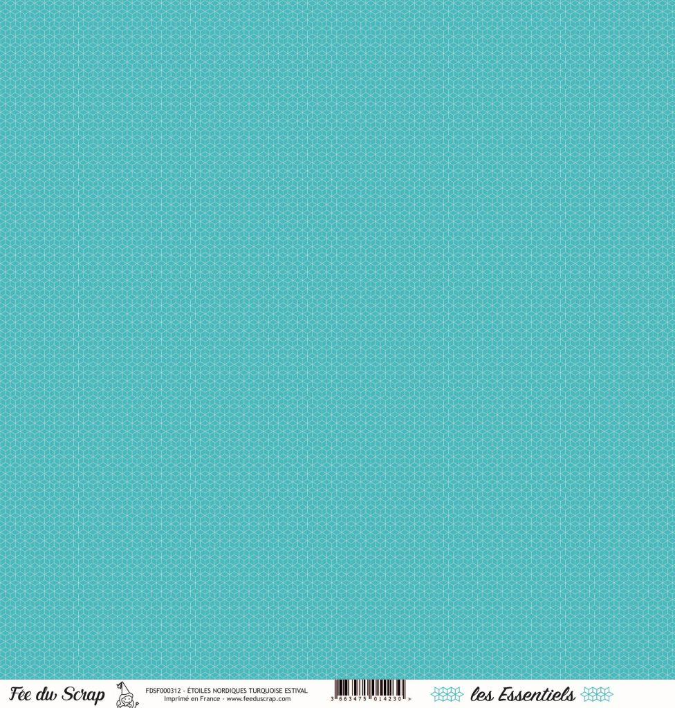 feuille les essentiels étoiles nordiques turquoise estival