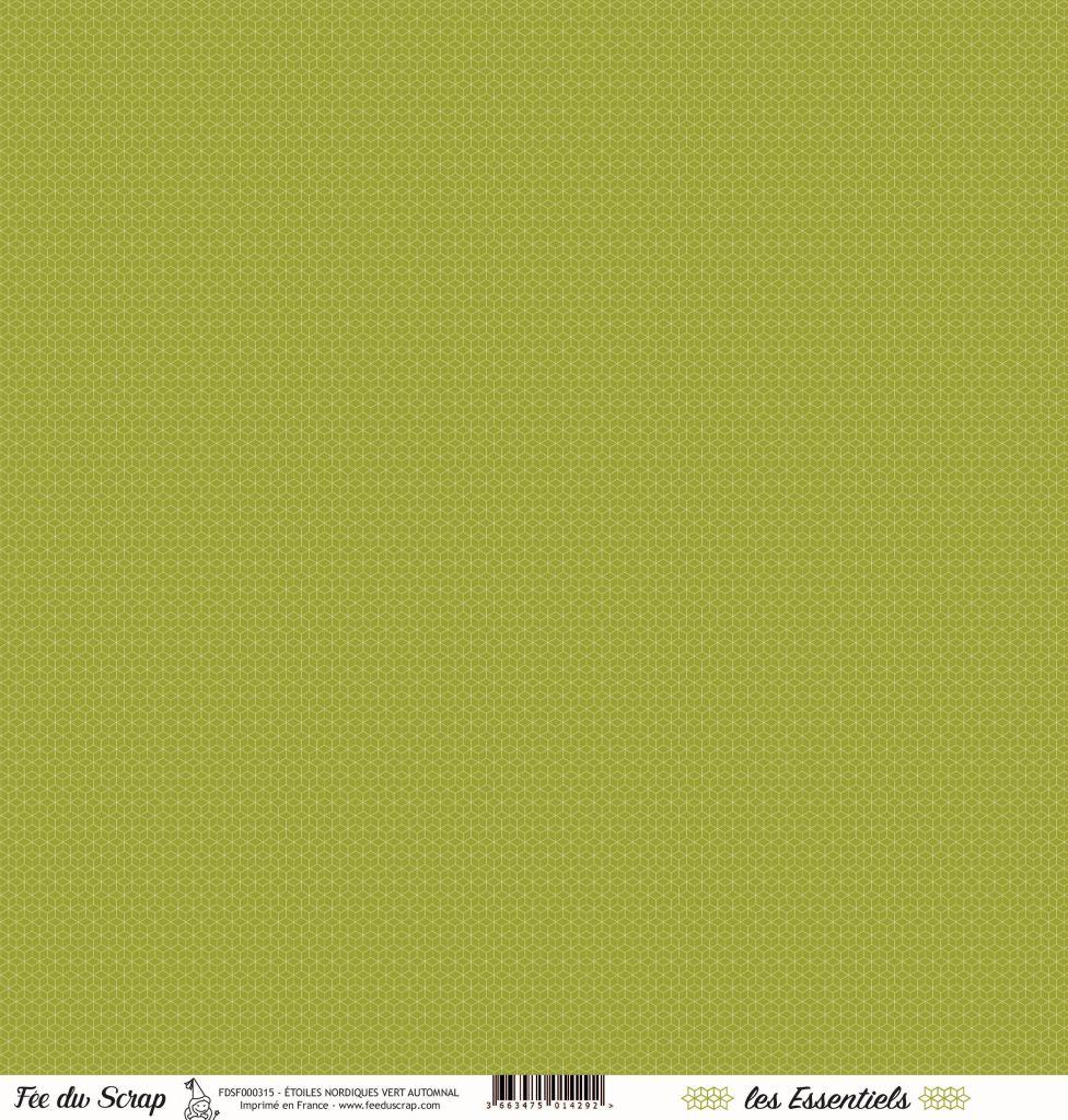 feuille les essentiels étoiles nordiques vert automnal