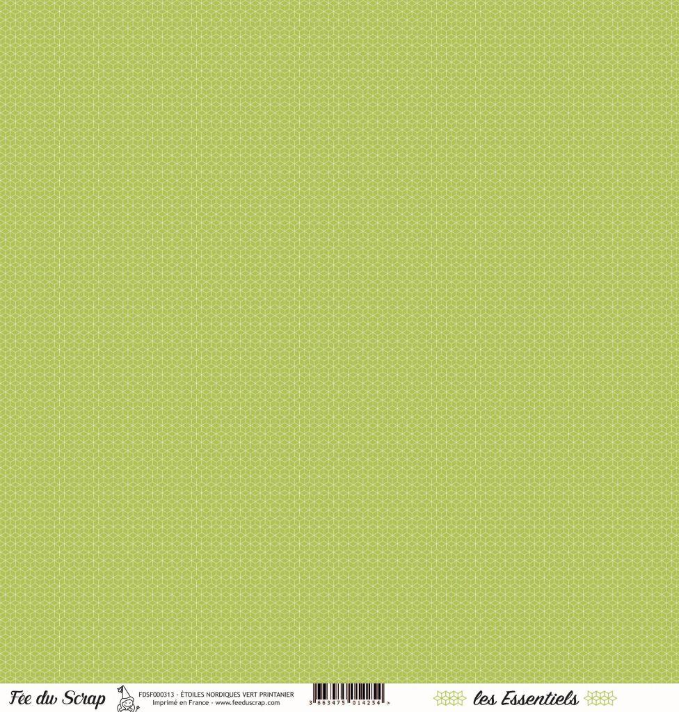 feuille les essentiels étoiles nordiques vert printanier