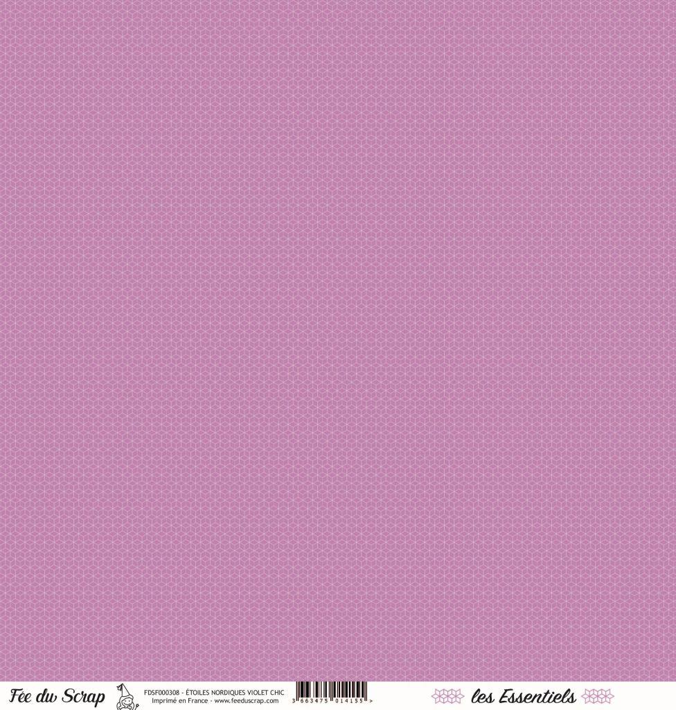 feuille les essentiels étoiles nordiques violet chic