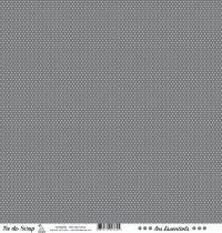 feuille les essentiels gris foncé pois