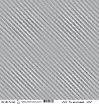 feuille les essentiels gris foncé rayures