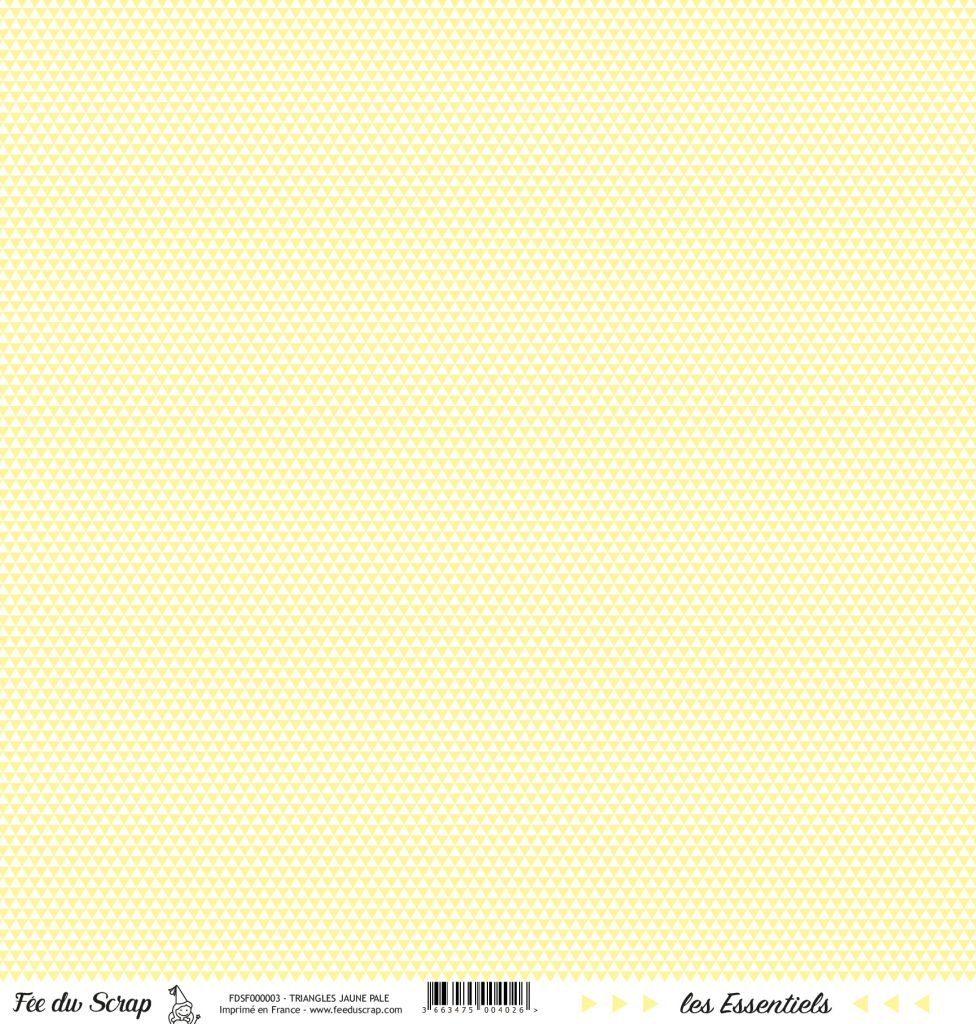 feuille les essentiels jaune pale triangles