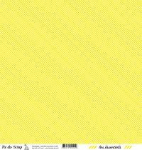 feuille les essentiels jaune rayures