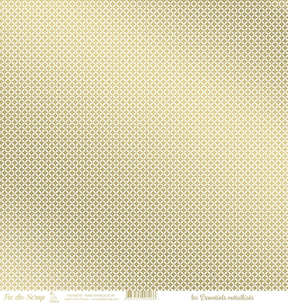 feuille les essentiels métallisés ronds entrelacés or